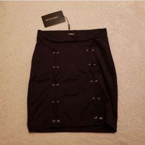 NWT PLT Black Mini Skirt